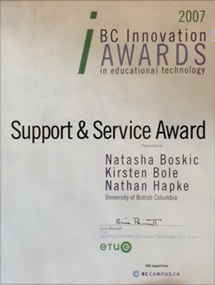 Support Service Award