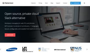 Mattermost Homepage Screenshot